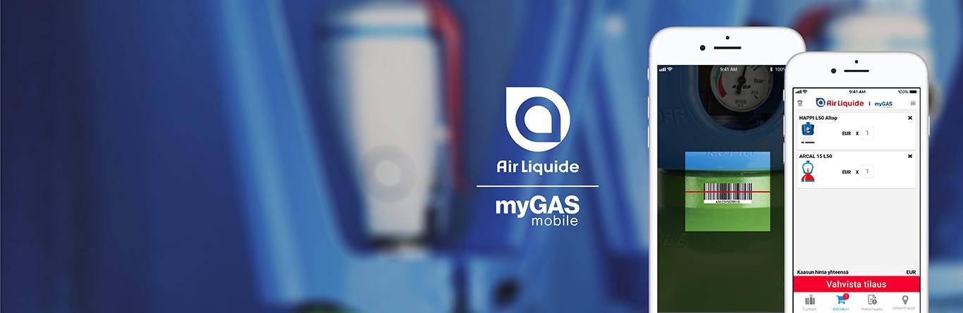 myGAS Mobile sovellus | tilaa kaasua missä ja milloin haluat | myGAS | Air Liquide