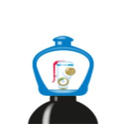 alphagaz™ 1 typpi pullo smartop l50
